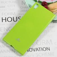 MG jemně se třpytící gelový obal na Sony Xperia XA1 Ultra - zelený