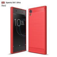 Carbo obolný gelový obal na Sony Xperia XA1 Ultra - červený
