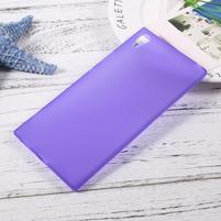 Matný gelový obal na Sony Xperia XA1 Ultra - fialový