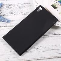 Matný gelový obal na Sony Xperia XA1 Ultra - černý