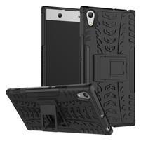 Outdoor odolný obal se stojánkem na Sony Xperia XA1 Ultra - černý