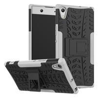 Outdoor odolný obal se stojánkem na Sony Xperia XA1 Ultra - bílý