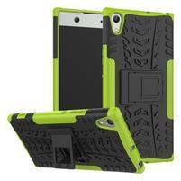 Outdoor odolný obal se stojánkem na Sony Xperia XA1 Ultra - zelený