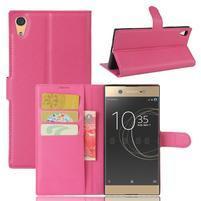 Graines PU kožené pouzdro na Sony Xperia XA1 Ultra - rose