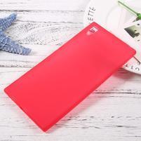 Matný gelový obal na Sony Xperia XA1 Ultra - červený