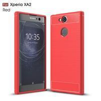 Brush odolný gelový obal na Sony Xperia XA2 - červený