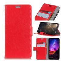 Stand PU kožené pouzdro na mobil Sony Xperia XA2 Plus - červené