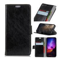 Stand PU kožené pouzdro na mobil Sony Xperia XA2 Plus - černé