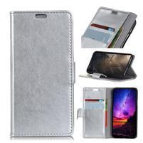 Stand PU kožené pouzdro na mobil Sony Xperia XA2 Plus - stříbrné