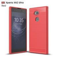 Brush gelový odolný obal na Sony Xperia XA2 Ultra - červený