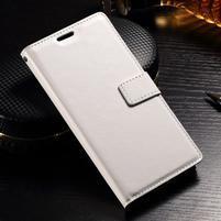 Francis PU kožené peněženkové pouzdro na Sony Xperia XZ - bílé