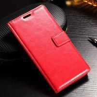 Francis PU kožené peněženkové pouzdro na Sony Xperia XZ - červené