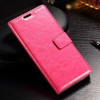 Francis PU kožené peněženkové pouzdro na Sony Xperia XZ - rose