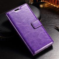 Francis PU kožené peněženkové pouzdro na Sony Xperia XZ - fialové