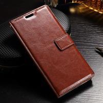 Francis PU kožené peněženkové pouzdro na Sony Xperia XZ - hnědé