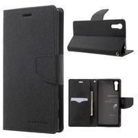 Diary PU kožené pouzdro na mobil Sony Xperia XZ - černé