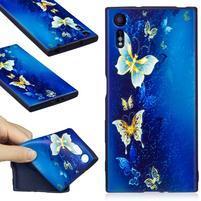 Matty gelový obal na Sony Xperia XZ - motýlkové