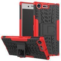Outdoor odolný obal na mobil Sony Xperia XZ Premium - červený