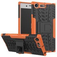 Outdoor odolný obal na mobil Sony Xperia XZ Premium - oranžový