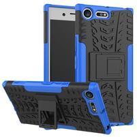 Outdoor odolný obal na mobil Sony Xperia XZ Premium - modrý