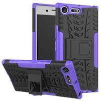 Outdoor odolný obal na mobil Sony Xperia XZ Premium - fialový