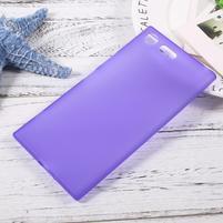 Matný gelový obal na mobil Sony Xperia XZ Premium - fialový