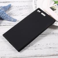 Matný gelový obal na mobil Sony Xperia XZ Premium - černý