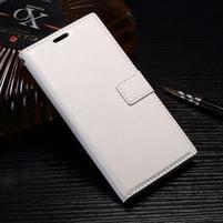 Wallet PU kožené zapínací pouzdro na Sony Xperia XZ Premium - bílé