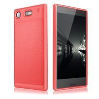 IVS odolný gelový obal s texturovanými zády na Sony Xperia XZ1 Compact - červený