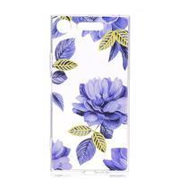 Patty gelový obal na Sony Xperia XZ1 Compact - modrý květ