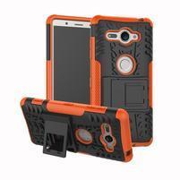 Outdoor odolný hybridní kryt na Sony Xperia XZ2 Compact - oranžový