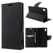 Diary PU kožené pouzdro na Sony Xperia Z3+ - černé