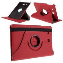Circ PU kožené pouzdro na Samsung Galaxy Tab E 9.6 - červené