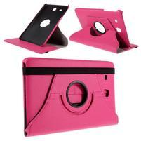 Circ PU kožené pouzdro na Samsung Galaxy Tab E 9.6 - rose