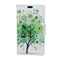 Emotive peněženkové pouzdro na mobil Vodafone Smart E8 - jarní strom