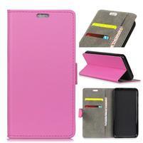 Wall PU kožené peněženkové pouzdro pro Vodafone Smart N9 Lite - rose