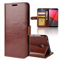Horse PU kožené peněženkové pouzdro na Vodafone Smart N9 Lite - hnědé