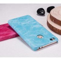 Mofi plastový obal s PU koženými zády na Xiaomi Mi4S - světlemodré