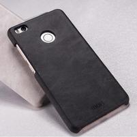Mofi plastový obal s PU koženými zády na Xiaomi Mi4S - černé
