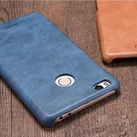 Mofi plastový obal s PU koženými zády na Xiaomi Mi4S - tmavěmodré