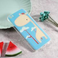 Softy gelový obal s potiskem na Xiaomi Mi 5 - žirafa