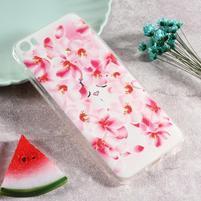 Softy gelový obal s potiskem na Xiaomi Mi 5 - květinky
