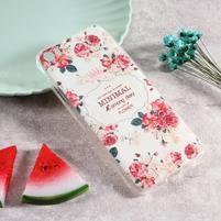 Softy gelový obal s potiskem na Xiaomi Mi 5 - květy
