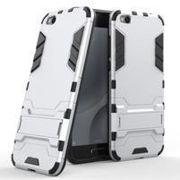 Defender odolný obal na mobil Xiaomi Mi 5c - stříbrný