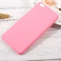 Rubber pogumovaný plastový obal na Xiaomi Mi 5c - růžový