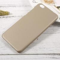 Rubber pogumovaný plastový obal na Xiaomi Mi 5c - zlatý