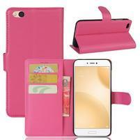 Graines PU kožené pouzdro na mobil Xiaomi Mi 5c - rose
