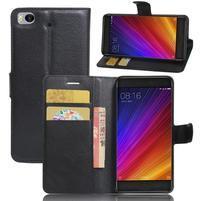 Texture PU kožené pouzdro na mobil Xiaomi Mi5s - černé