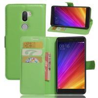 Graines knížkové PU kožené pouzdro na Xiaomi Mi5s Plus - zelené