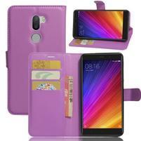 Graines knížkové PU kožené pouzdro na Xiaomi Mi5s Plus - fialové